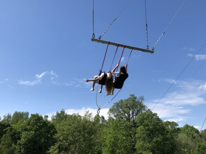 The Giant swing in Sigulda Tarzan Park has just become much more impressive!